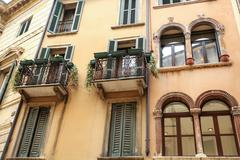 historic architecture in verona - stock photo