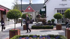 Kildare Village Outlet Shopping 2 Stock Footage