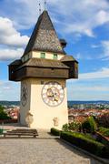 Clock tower of grace Stock Photos