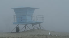 USA, California, Huntington Beach, Lifeguard beach house Stock Footage