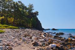Beach at Phaselis in Antalya Turkey Stock Photos