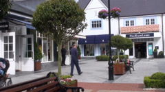Kildare Village Outlet Shopping 3 Stock Footage