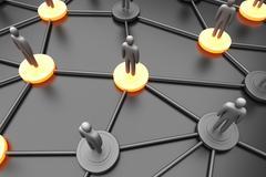 Network nodes. Stock Illustration