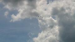 6x Aero Vodochody L-39C Albatros airshow Stock Footage