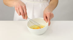 4327Whipping eggs Stock Footage