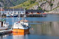 view of lofoten archipelago bay - stock photo