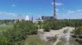 Thermal power plant in  wood .Aerial HD Footage