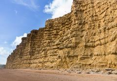 jurassic cliffs at west bay dorset in uk - stock photo