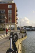 Gunwharf Quays in Portsmouth. Hampshire. England - stock photo