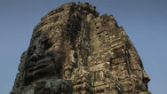Stock Video Footage of Light shadow on Bayon bas relief  timelapse 4K