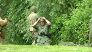 Stock Video Footage of US soldier capture german soldier Normandy 03