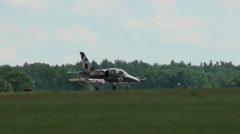 Aero Vodochody L-39C Albatros number 6 Stock Footage
