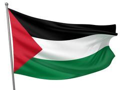Palestine National Flag - stock photo