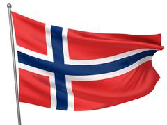 Norway National Flag - stock photo