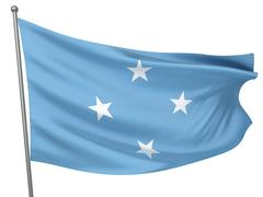 Micronesia, Federated States of National Flag - stock photo