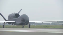 RQ-4 Global Hawk UAV Unmanned aerial vehicle - stock footage