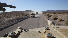 1st Tank Bn. blasts through Exercise Desert Scimitar 2014 Stock Footage