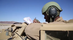 1st Tank Bn. blasts through Exercise Desert Scimitar 2014 Stock Footage