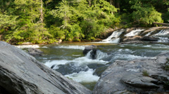 Appalachian Mountain River Rapids in HD 4K - stock footage