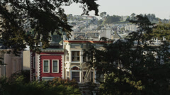 USA, California, San Francisco, View from Alamo Square Park on buildings Stock Footage
