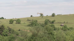 Tanks from Multi National Forces Conduct Defensive Operations Stock Footage