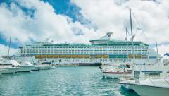 Explorer of the Seas Docked at Kings Wharf, Bermuda Stock Footage