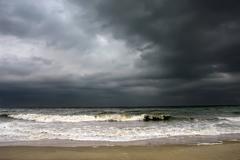 Stormy weather, Atlantic ocean Stock Photos