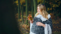 Pregnancy. Pregnant woman smiling 002 Stock Footage
