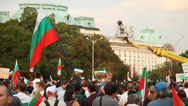 Stock Video Footage of Protesters In Sofia, Bulgaria