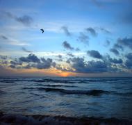 Sunrise, Atlantic ocean Stock Photos