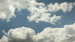 Amazing cotton like Clouds Timelapse, time lapse Stock Footage