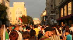 The Peacefuly Protest March - Sofia,Bulgaria ,2013 Stock Footage