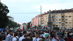 Great Crowd Of Protesters At The Square In Sofia, Bulgaria, 2013 Stock Footage