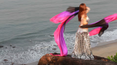 Beautiful bellydancer. Stock Footage