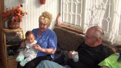 Grand family Stock Footage