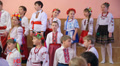 Ukrainian children at a school concert 004 Footage