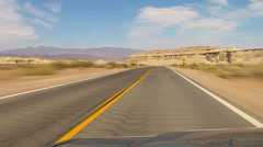 Fast Motion Driving On Highway In Death Valley Desert - stock footage