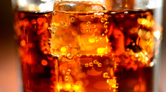 Cola background. Stock full HD video footage 1080p Stock Footage