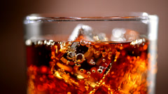 Cola background. Stock full HD video footage 1080p - stock footage