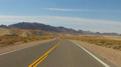 Stock Video Footage of POV Car Driving Winding Road In Death Valley Desert