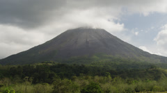 Costa Rica, Scenic view of Arenal Volcano Stock Footage