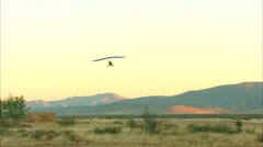 Ultralights Landing Early Morning Stock Footage