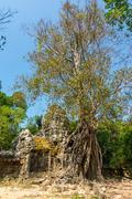 Gateway to ta som temple, siem reap, cambodia Stock Photos