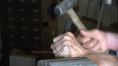 Stock Video Footage of Hammer and chisel, shop tools