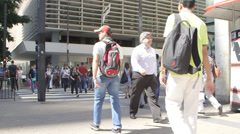 Sao Paulo poverty and affluence side by side Stock Footage