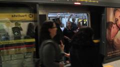 Passengers at the Subway Station - Sao Paulo, Brazil Stock Footage