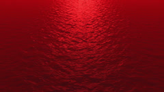 Red Waves Far Shot Stock Footage