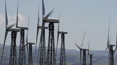 Costa Rica, View of wind turbines - stock footage