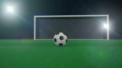 Shooting at Goal, slow motion 3d animation Stock Footage
