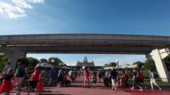 Disney Monorail 3 Stock Footage